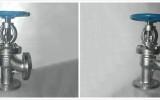 星图测速网址_不锈钢法兰角式截止阀J44W图片