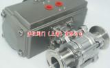 无滞留气动球阀Q681F-16P/R_全包卫生级气动球阀